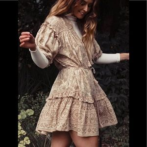 NWT Spell & The Gypsy Lioness Tunic Dress In Smoke